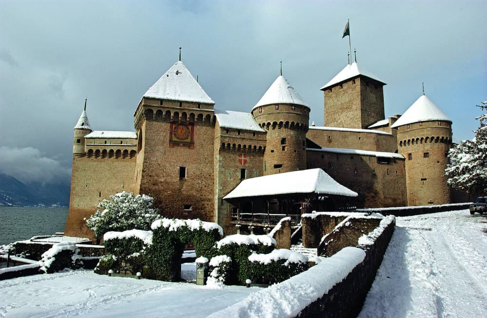 Castello Chillon innevato